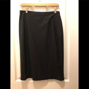 Black Wool Banana Republic Skirt